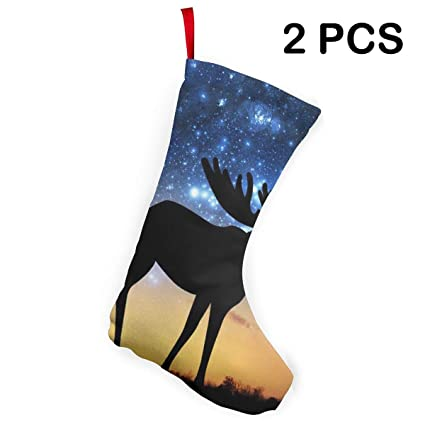 Amazon Com 2 Pieces Universe Galaxy Moose Classic Christmas