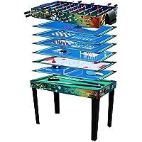 Solex - Tavolo multigioco, 12in 1, in legno, a colori, 113x 62x 81,3cm