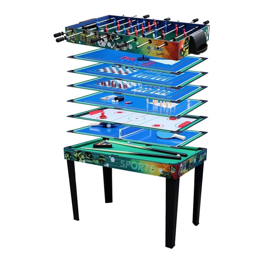 Solex - Tavolo multigioco, 12in 1, in legno, a colori, 113x 62x 81,3cm 12in 1 113x 62x 81 3cm 91412