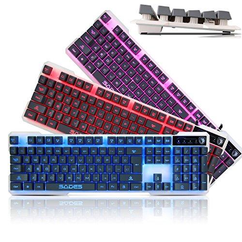 Sades Gaming Keyboard Backlight Purple