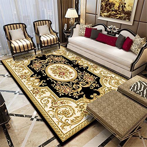 2 Pieces European Carpet Living Room Sofa Coffee Table American Style Bedroom Retro Home Room Rectangular Bedside Blanket B 40X60CM