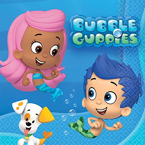 Amscan Bubble Guppies Beverage Napkins -