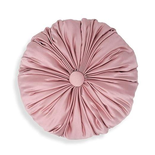 Declea Cojín Redondo Rosa Ideal para sofá Cama y sillones ...