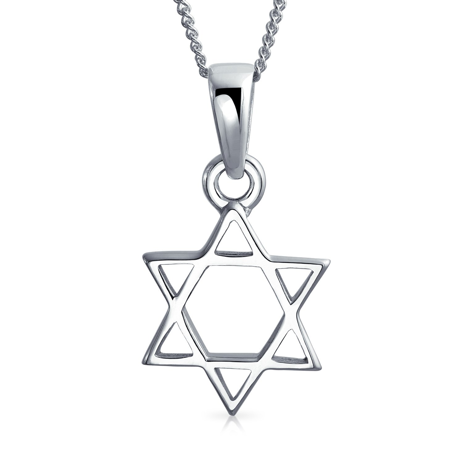 Hanukkah Two Star Of David Magen Jewish Pendant Necklace High Sterling Silver