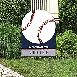 Big Dot of Happiness Batter Up - Baseball - Party Decorations - Birthday Party or Baby Shower Welcome Yard Sign