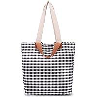 Peng Fang Women's Canvas Shoulder Handbag Tote Bag, Travel Handbags for Shopper, Daily Purse(Black)