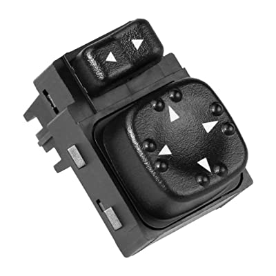 Power Mirror Switch - Replaces 901124, 15045085, 19259975 - Fits 2000-2002 Chevy Silverado 1500, 2500, 3500, Suburban 1500, 2500, Tahoe, GMC Sierra 1500, 2500, Yukon, XL 1500, XL 2500 - Side Mirrors: Automotive [5Bkhe1513331]