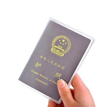 DDU(TM) 5 Stück Bequem Bereift Pass-Halter Abdeckung Karten Papier ...