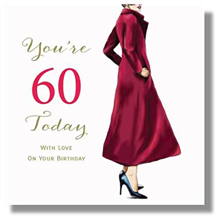 Image Unavailable Not Available For Color Large Happy 60th Birthday Card