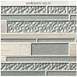 Aria Interlocking 12 in. x 18 in. x 8 mm Glass Stone Mesh-Mounted Mosaic Tile