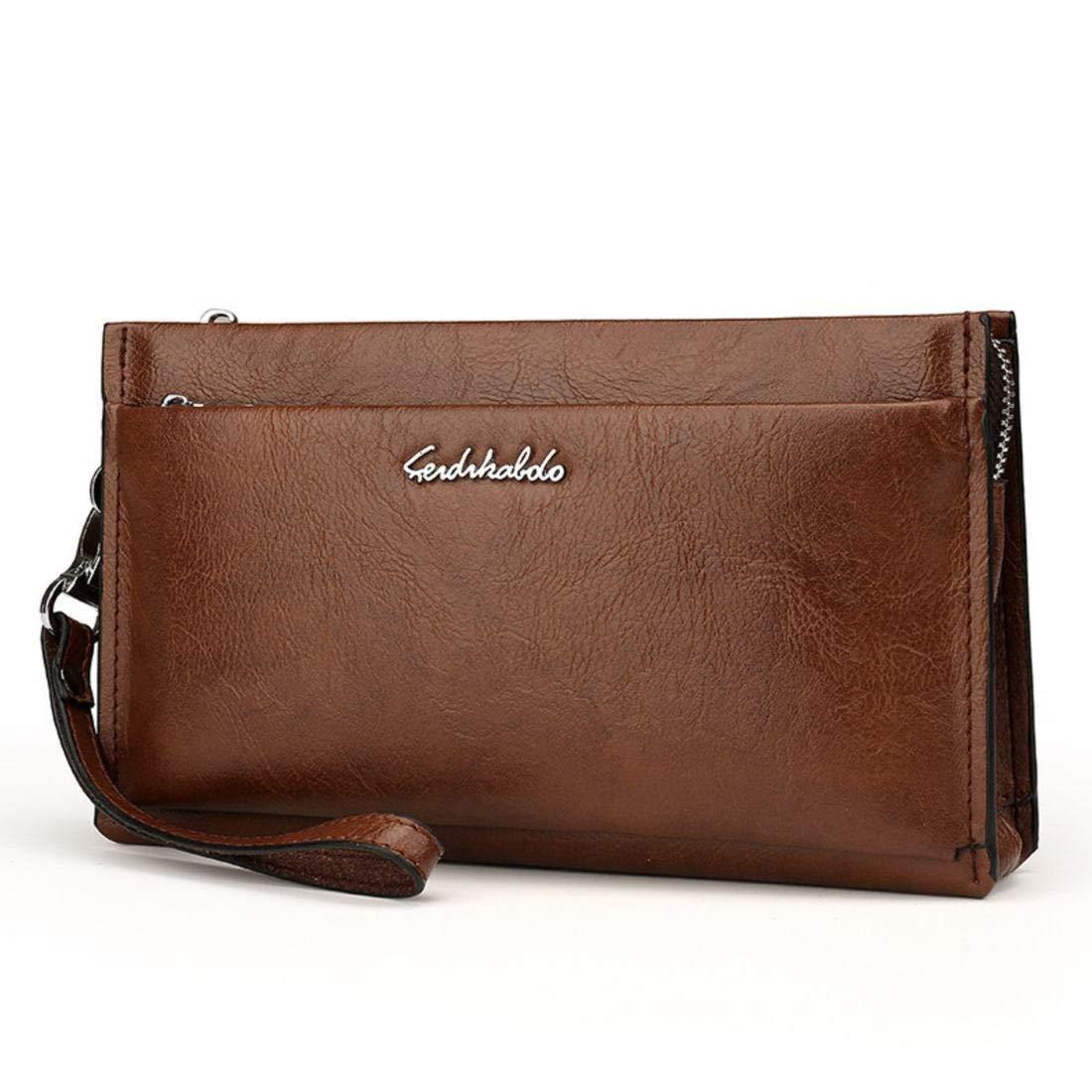 Kamiwwso Mens Mens Mens Wallet Zip Scheckheft Wallet Card Holder Wristlet Tasche für Männer (Farbe   schwarz) B07P9PB4JC Geldbrsen 97ba09