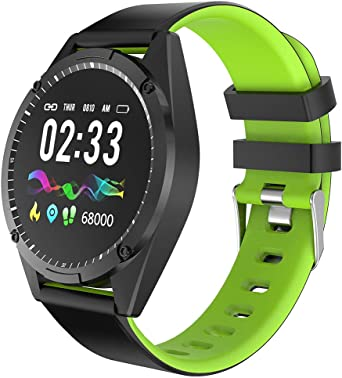 Multifunción Reloj Inteligente con Pulsómetros, Pulsera Smartwacht ...