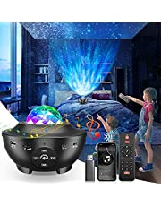 Galaxy Light Star Projector,Ocean Wave Night Light 4 in 1 w/21 Lighting Modes Starlight Projector, w/Bluetooth Music Speaker for Baby Kids Bedroom Decor/Birthday Gifts/Party/Game Rooms/Home Theatre