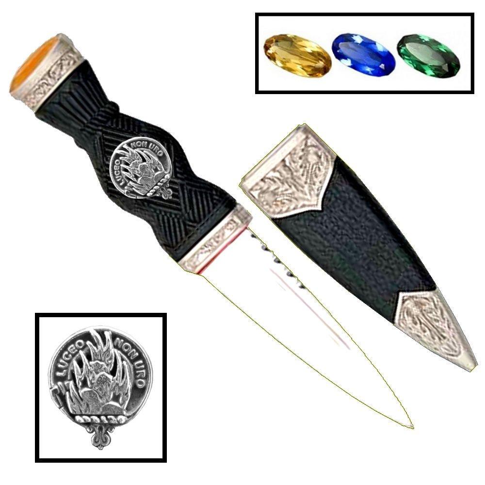 Scottish Clan Crest Sgian Dubh ~ MacKenzie