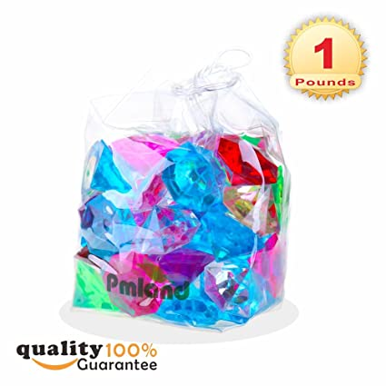 Amazon.com  Acrylic Diamond Gems and Jewels, Bulk 1 Pound Bag ... 103360b90a