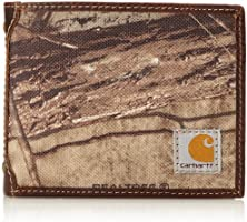 Carhartt Men's Camo Canvas Passcase Wallet, Camo/Green/Brown, One Size