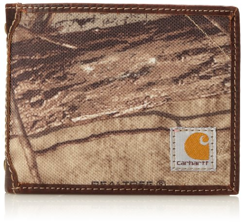 Mens Carhartt Camouflage - Carhartt Men's Camo Canvas Passcase Wallet, Camo/Green/Brown, One Size