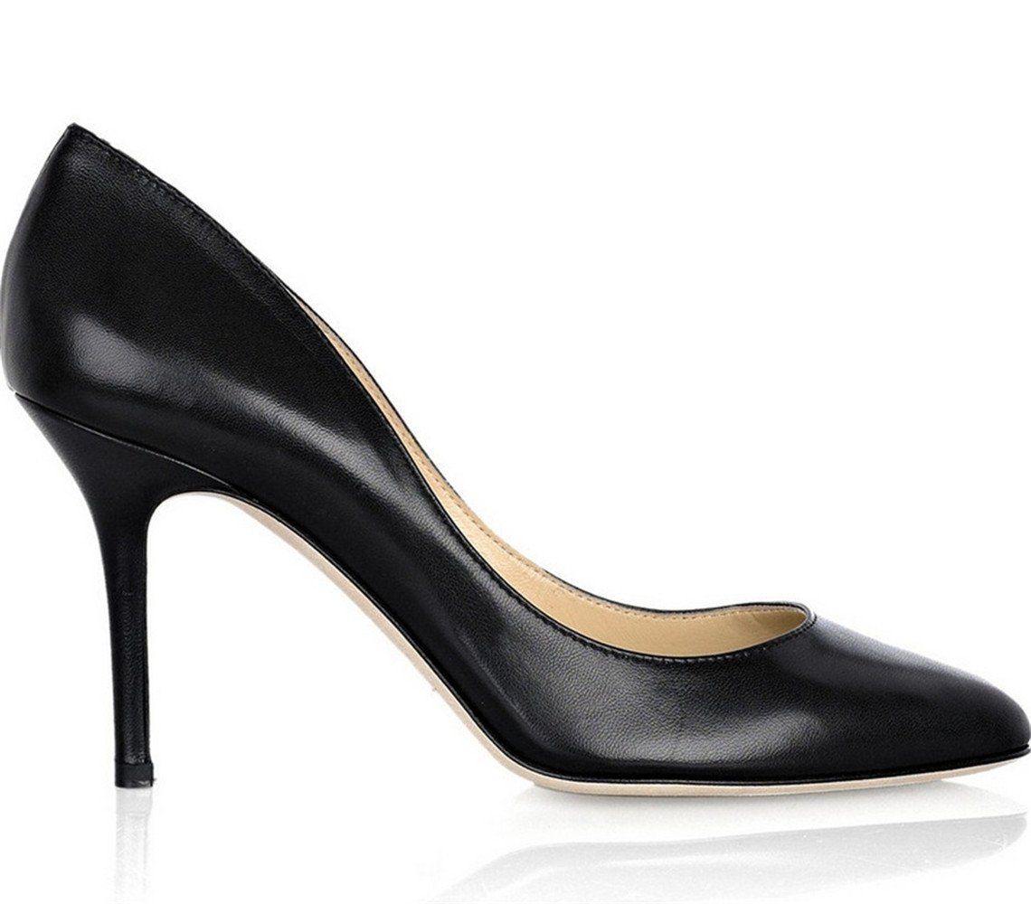 Shoemaker'S Heart Europe And America Sexy High-Heeled Shoes Black Small Round Head Fine Heel Shoes Black Forty-One