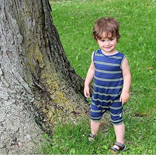 Baby Boy Girls Sleeveless Striped Harem Romper