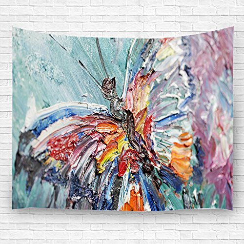- Home decor Tapestry With 3D painting Butterfly Wall Art Hippie Wall Hanging Bohemian Bedspread tapestries 150CM200CM (3)