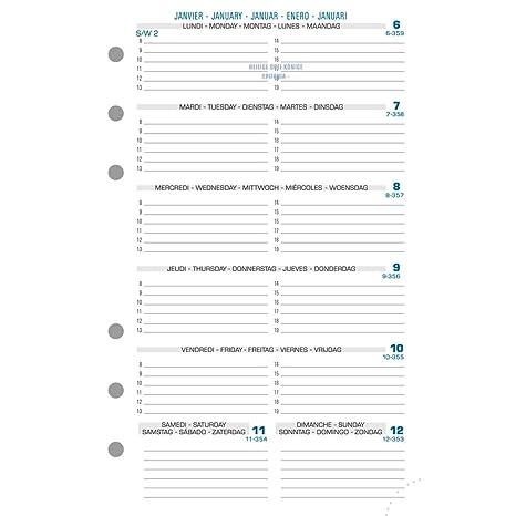 Amazon.com: Exatime 17 Agenda Recambio - Semana en 1 Página ...