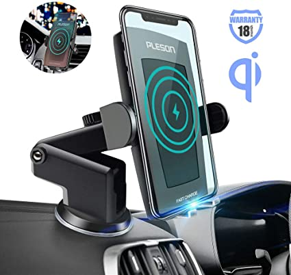 Auto-Clamping 10W//7.5W Qi Fast Charging Phone Holder for Car Air Vent Cell Phone Mount Compatible with iPhone Xs XR X 8 Plus 7 Car Wireless Charger Samsung Galaxy S10e S10 S9 S8+ Note 10 S7 Edge