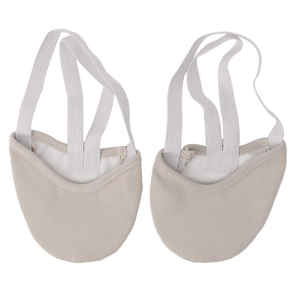 Junlinto Half Faux Leather Sole Balletto Pointe Scarpe da Ballo Pantofole Ginnastica Ritmica