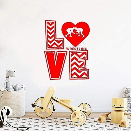 xingbuxin Tatuajes de Pared Creative Love Wrestling Vinyl Wall ...