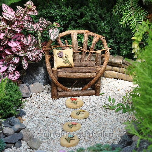 Miniature Fairy Garden Tulip Pillow With Matching Stepping