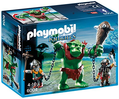 (PLAYMOBIL Giant Troll with Dwarf Fighters)