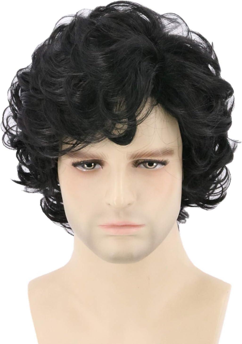 per cosplay e Halloween Topcosplay Parrucca da uomo con capelli corti e ricci