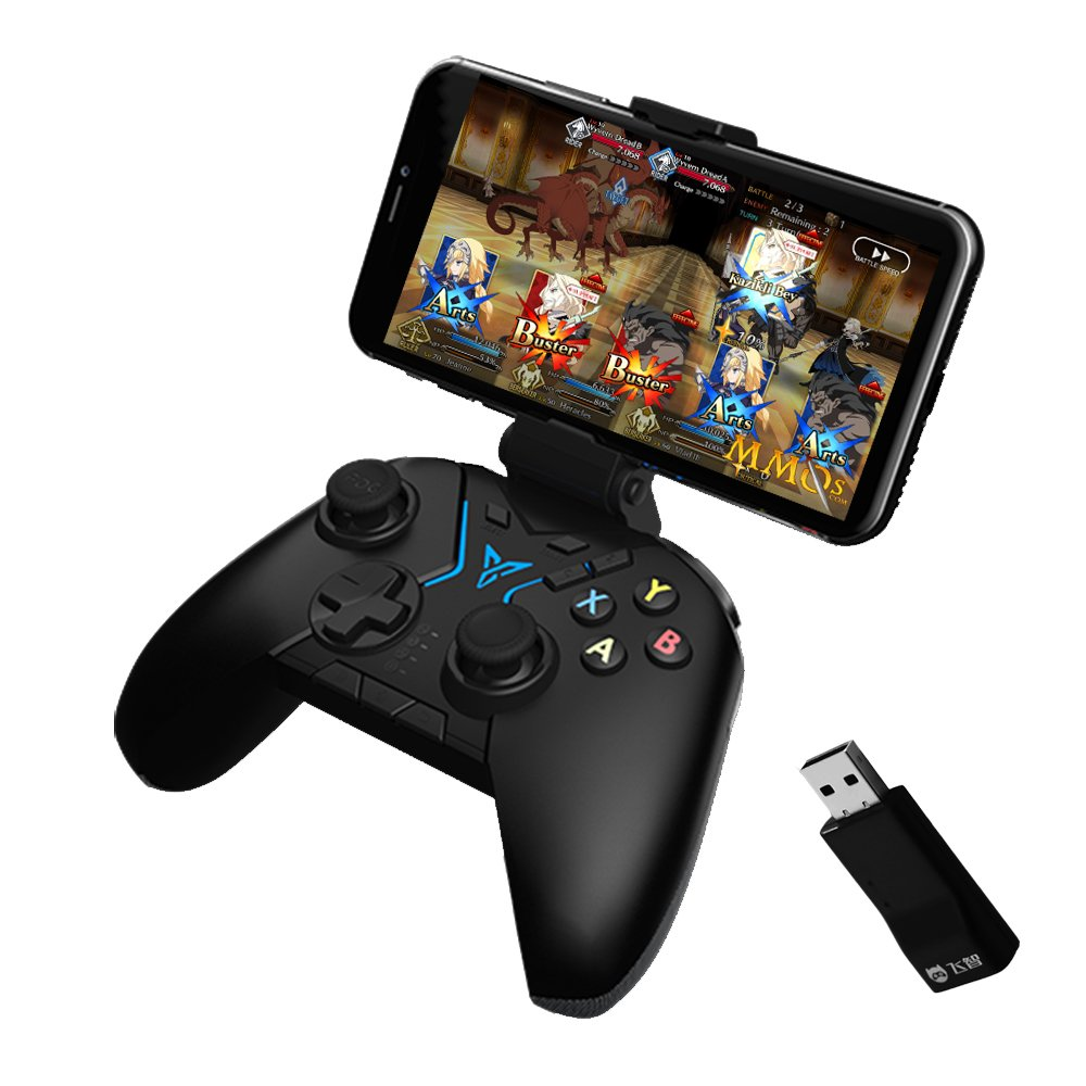 Bounabay FlyDigi Apex Motion Sensing Wireless Controller Game Pad for Android Smartphone Tablet PC TV with Bracket and game controller adapter by Bounabay