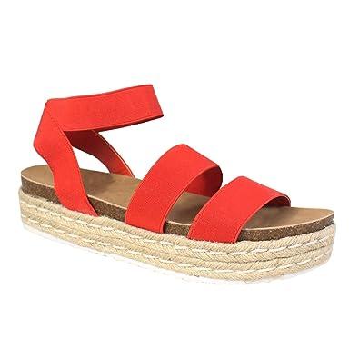 1b3e032ba76 Amazon.com  YOKI Women s CHIARA-10 Open Toe Platform Espadrille  Shoes