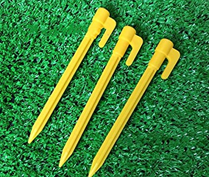 Shatex 4.3inch 12pack Black Sturdy Plastic Stakes Anchors for Holding Down