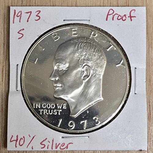 Genuine ~1973-SProof/40% Silver Eisenhower Dollar LOT#W-085