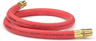 product image for TEKTON 46362 1/2-Inch I.D. by 3-Foot 250 PSI Rubber Lead-In Air Hose with 1/2-Inch NPT Male Ends