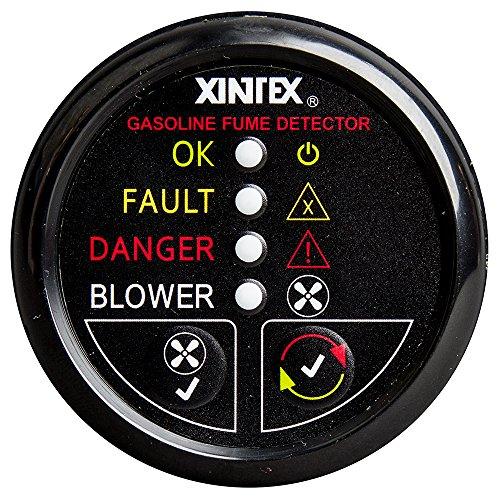Fireboy-Xintex Xintex Gasoline Fume Detector & Blower Control w/Plastic Sensor - Black Bezel Display