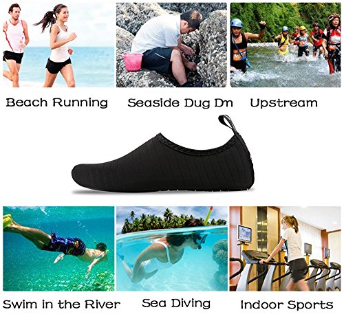 Black Surfing Snorkeling Exercise Womens Shoes Striped IceUnicorn Water Beach Shoes Outdoor Yoga Mens for Running Swim Barefoot Skin Socks Diving 16HTOq