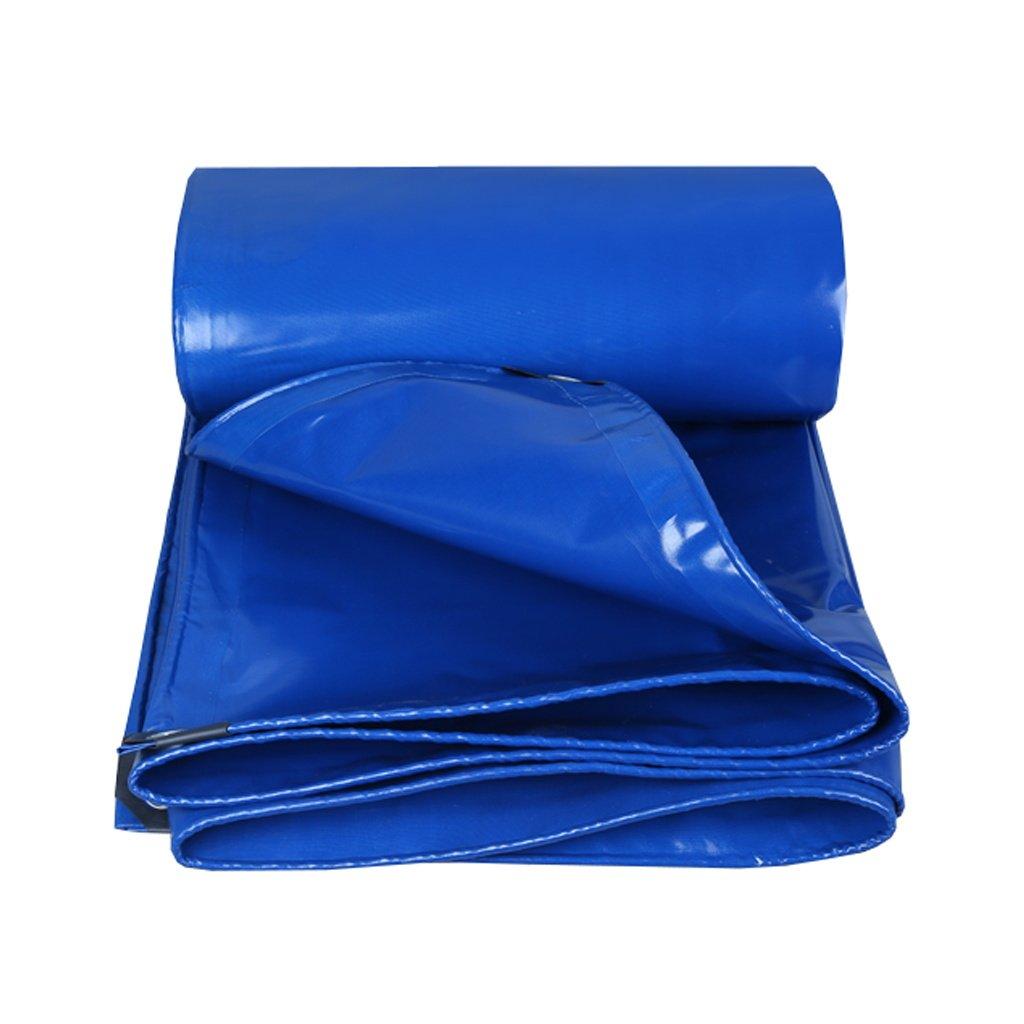5m×5m  LAXF-Imperméable BÂche étanche avec Oeillets métalliques et Bords renforcés pour Toit, Camping, extérieur, Patio, réversible, Bleu, 350G   m², épaisseur 0,35 mm, 15 grandeurs Disponibles