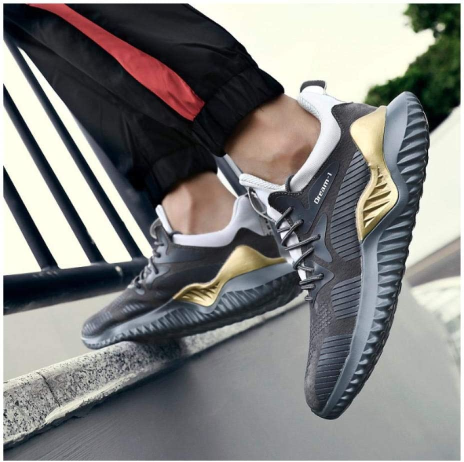 WAXFAS Autumn and Winter Leather Sports and Leisure Running Shoes Men\'s Sports Shoes Sneakers 41