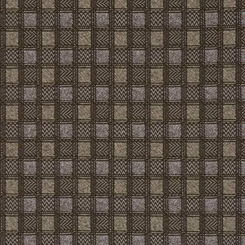 Asphalt Black Grey Check Plaid Contemporary Modern Wovens Upholstery Fabric by the yard