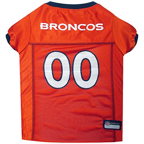 Broncos Dog Tag (NFL PET JERSEY. - Football Licensed Dog Jersey. - 32 NFL Teams Available. - Comes in 6 Sizes. - Football Pet Jersey. - Sports Mesh Jersey. - Dog Jersey Outfit. - NFL Dog Jersey)