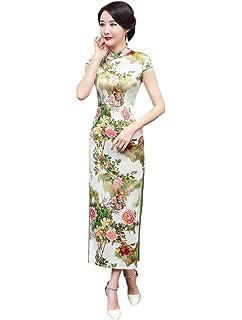 Chinois Acvip Robe Cheongsam Femme Qipao Traditional Motif Longue Lq5Scj34AR