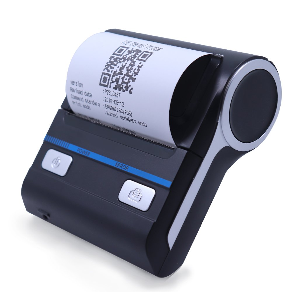 Milestone Mobile Thermal Printer 80MM Thermal Bluetooth Printer and USB Connectivity Receipt Printer ESC/POS, Compatible with Android/iOS/Windows System PC (80mm Thermal Printer-A)