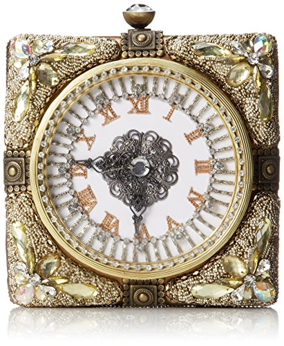 Mary Frances Time & Again Beaded Crystal Jeweled Clock Timepiece Shoulder Bag Cross Body by Mary Frances