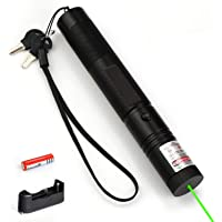 Innoo Tech Laser Pointer Powerful Green Light, LED Interactive Baton Funny Laser Pen Toys for Cats/Dogs (Green Light)