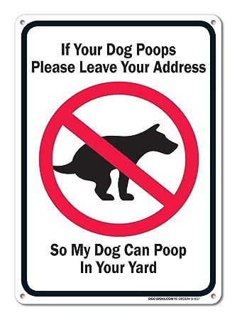 Hogan234Tom Divertido Cartel de Perro Poop, de Aluminio ...