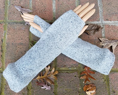 Upcycled Fingerless Gloves - Womens Angora Blend