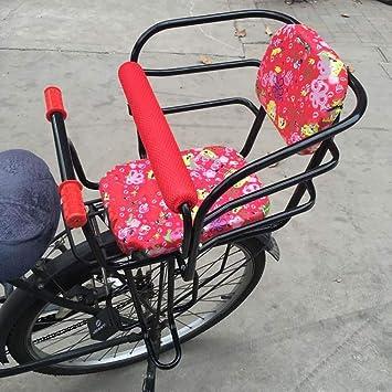 ZQZQMR Asiento de Bicicleta para niños El Asiento de Bicicleta para niños es Seguro y cómodo, fácil de Instalar, Resistente y Duradero, Adecuado para la mayoría de Las Bicicletas-Red: Amazon.es: Hogar