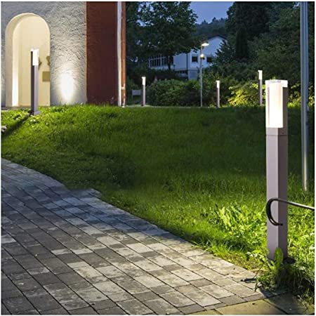YAYADU Bolardo Luces Al Aire Libre Retro E27 Lámpara De Jardín Impermeable Luces De Pedestal Y AcrílicoLámpara Terrazas Villa Iluminación Exterior (Color : Gray-D-10x40cm): Amazon.es: Hogar